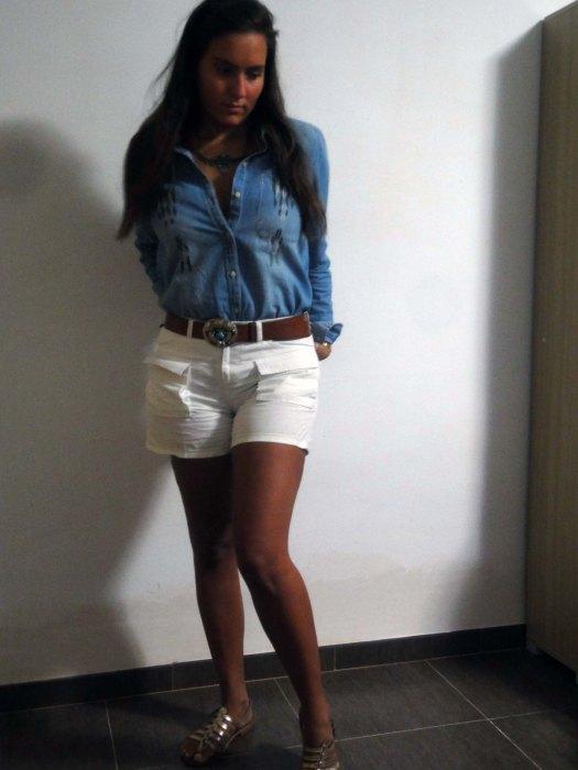chemise en jean Zara